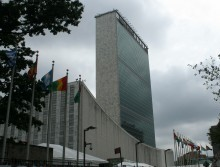 Dark anti-Israel clouds brew above the UN again. UN headquarters. Illustrative. By Joshua Spurlock