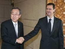 Could Syria's President bring together unlikely allies? Syrian President Bashar al-Assad (right) shakes hands with UN Secretary-General Ban Ki-moon (left). Illustrative. Photo Courtesy of UN Photo/Eskinder Debebe.