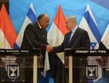 Closer to Arab Peace? Illustrative photo of Israeli PM Netanyahu and Egyptian FM Shoukry. Photo courtesy of  by Haim Zach / GPO