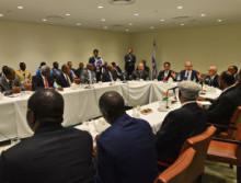 Israeli Prime Minister Benjamin Netanyahu meets with various African leaders at UNGA. Photo courtesy of Kobi Gideon / GPO